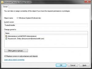 Folder Owner details
